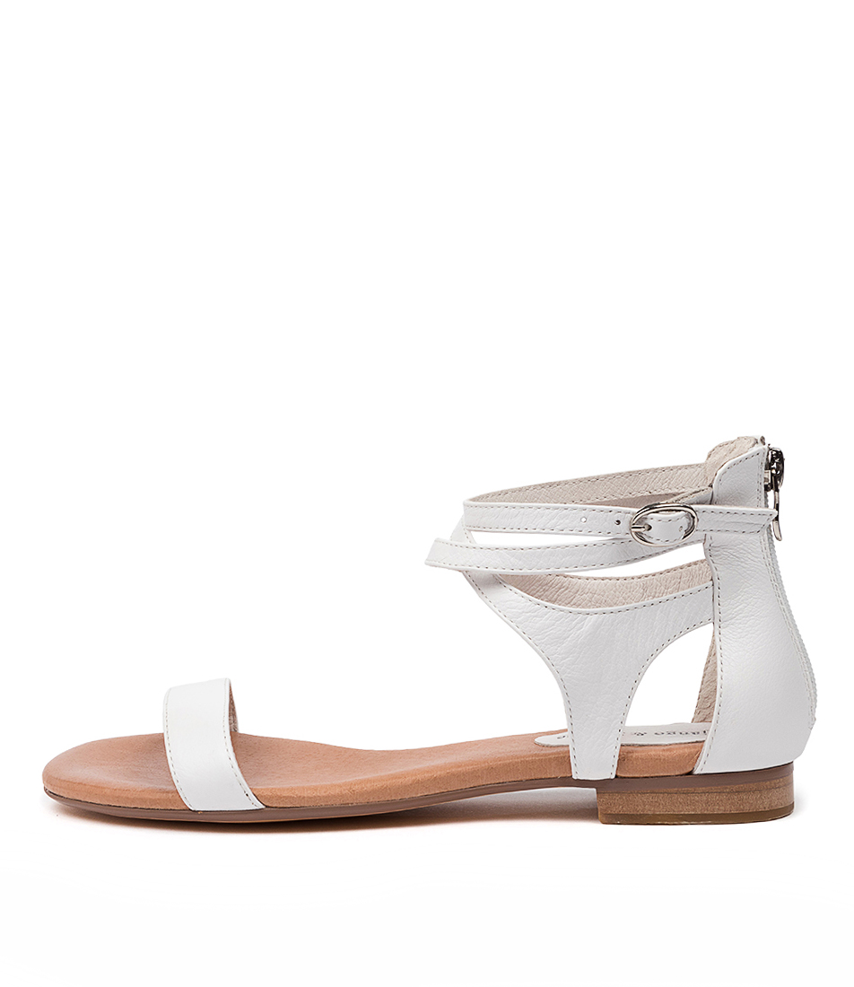 Buy Django & Juliette Please White White Flat Sandals online with free shipping