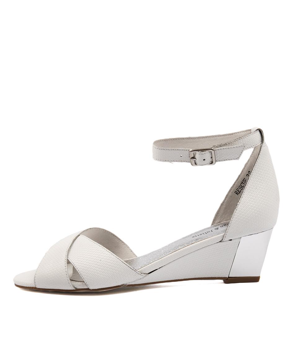 Django & Juliette Rescue White Heeled Sandals