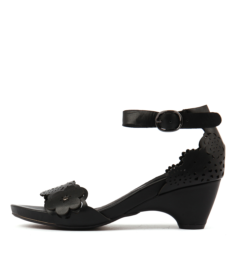 Django & Juliette Zimpa Black Casual Heeled Sandals