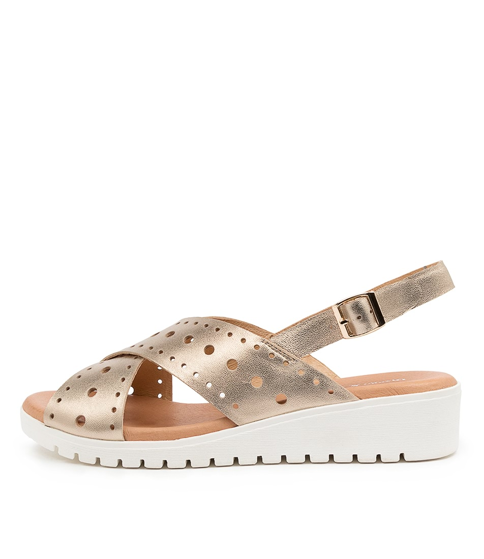 Buy Django & Juliette Meliza Champagne White Heeled Sandals online with free shipping
