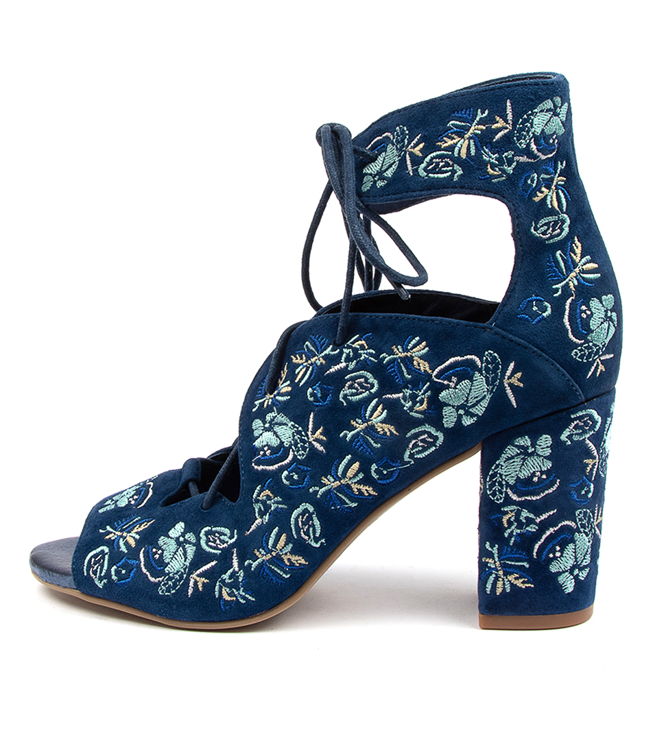 Buy Django & Juliette Thandie Dk Blue Blue Em Heeled Sandals online with free shipping