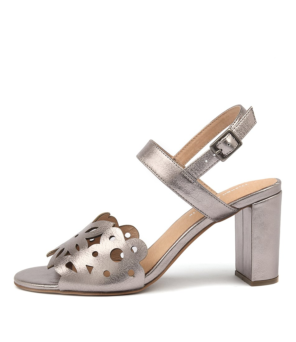 Django & Juliette Thistle Lt Pewter Heeled Sandals