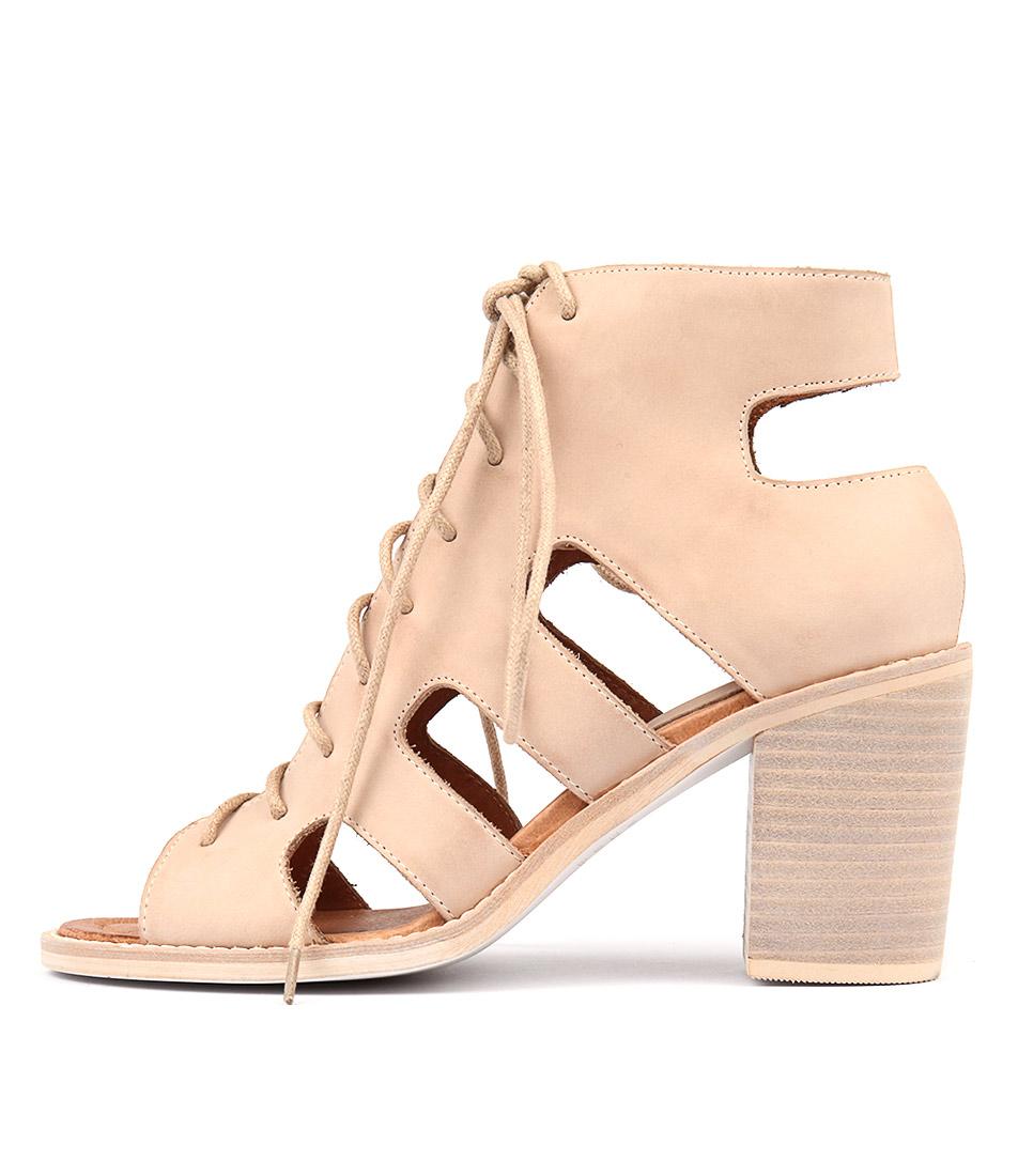 Django & Juliette Titan Latte Heeled Sandals