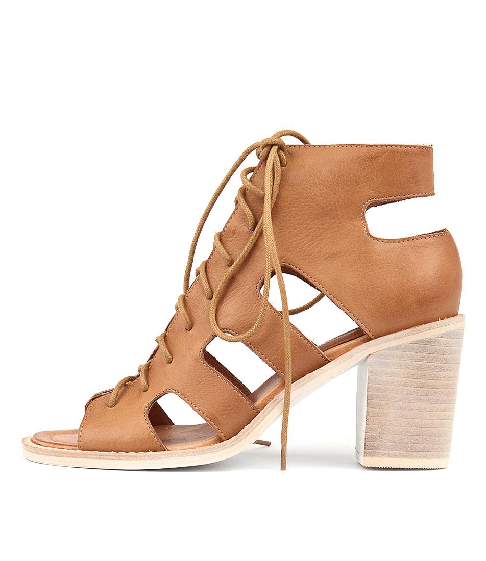 Django & Juliette Titan Dk Tan Heeled Sandals