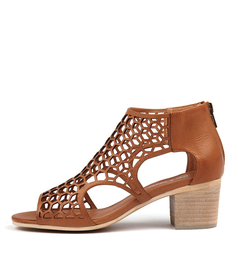 Buy Django & Juliette Bostik Dk Tan Heeled Sandals online with free shipping