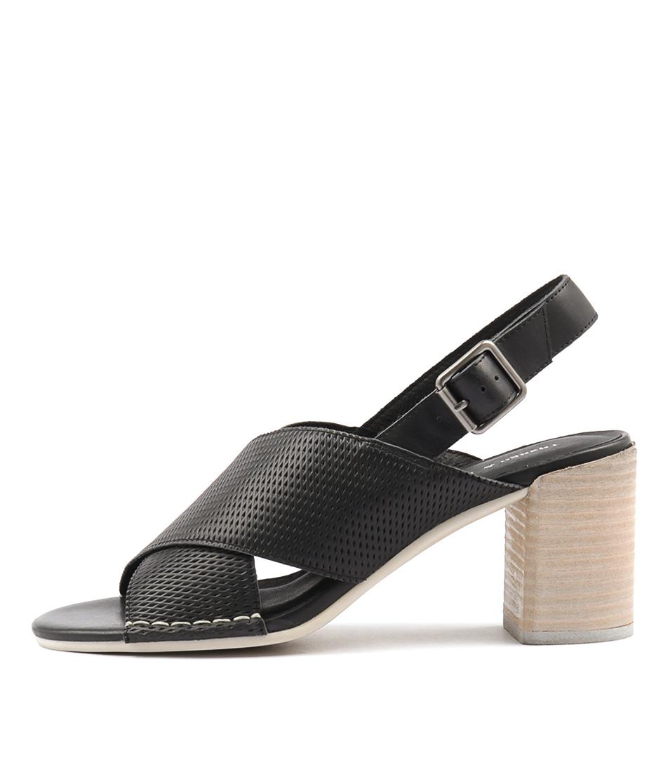 Django & Juliette Deania Black Heeled Sandals