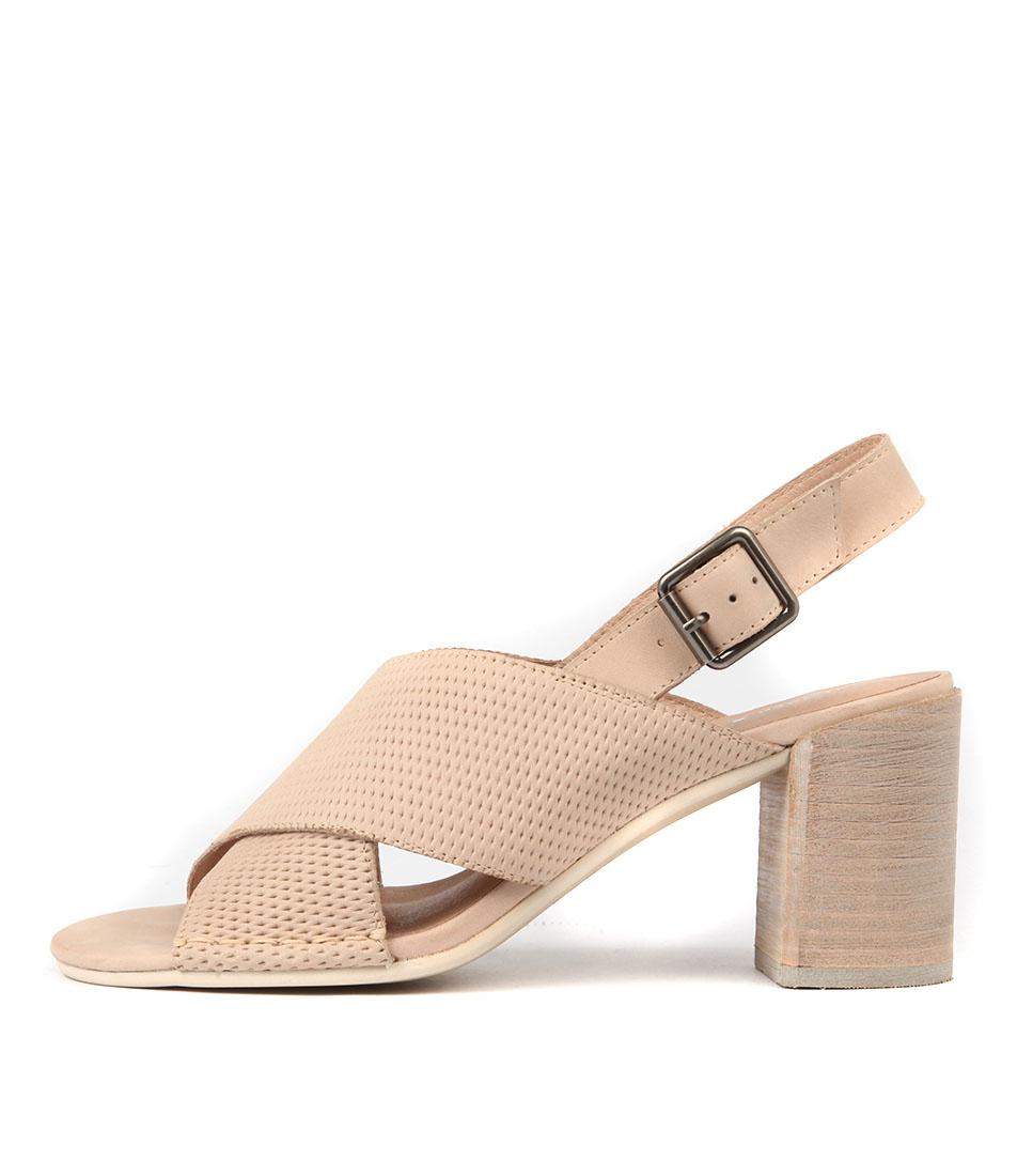 buy Django & Juliette Deania Latte Heeled Sandals shop Django & Juliette Sandals online