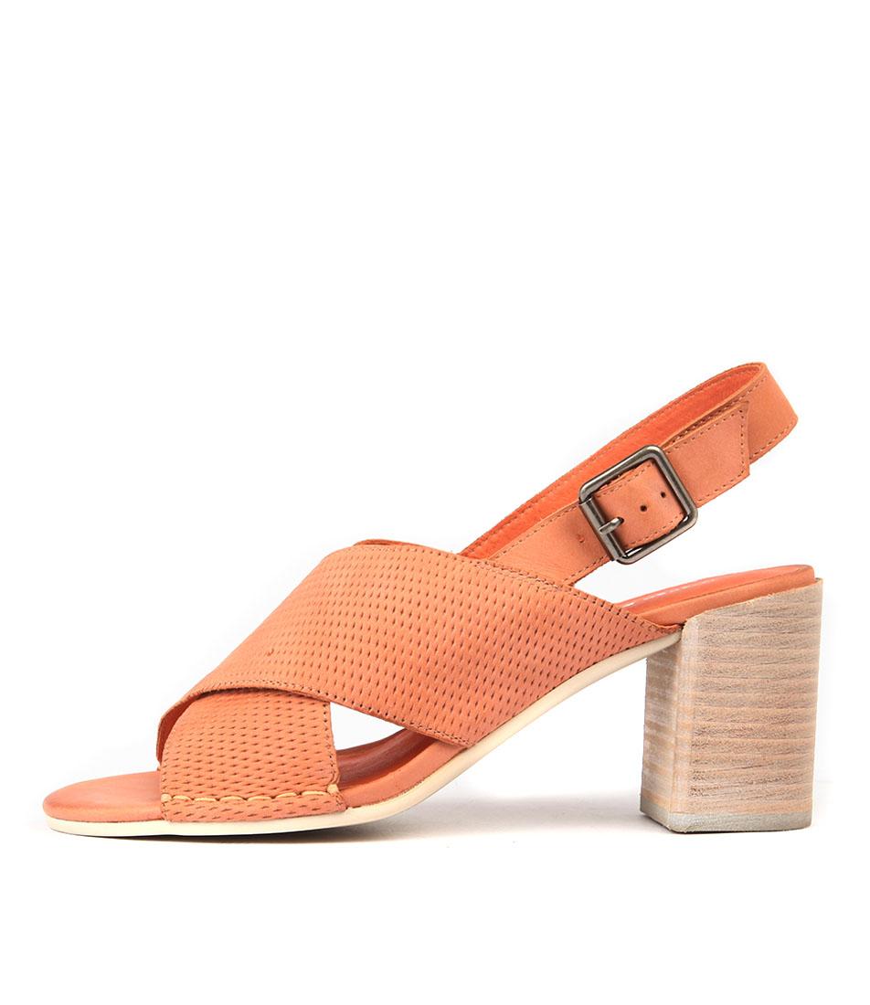 Django & Juliette Deania Cantaloupe Heeled Sandals