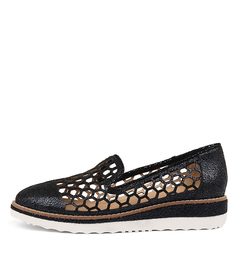 Django & Juliette Neles Navy Flat Shoes