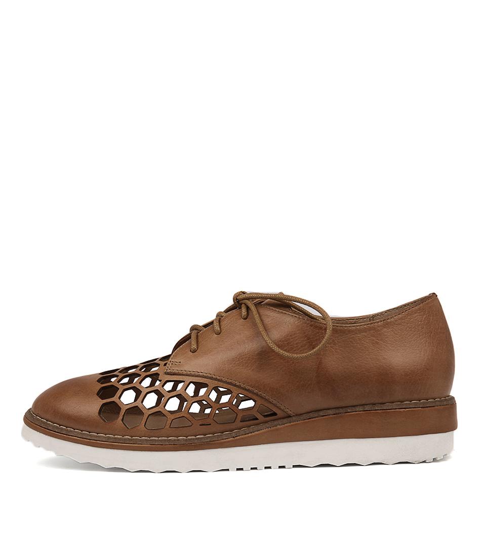 Django & Juliette Nudel Dk Tan Flat Shoes