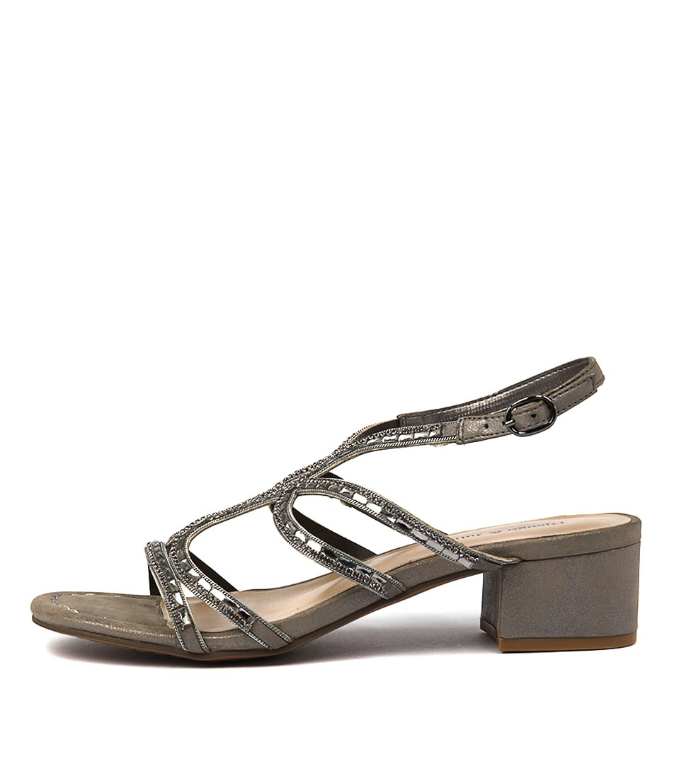 Django & Juliette 252 Pewter Heeled Sandals