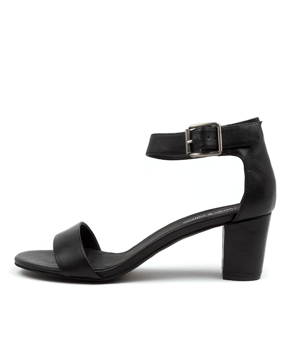 Buy Django & Juliette Cassier Lrg Black Heeled Sandals online with free shipping