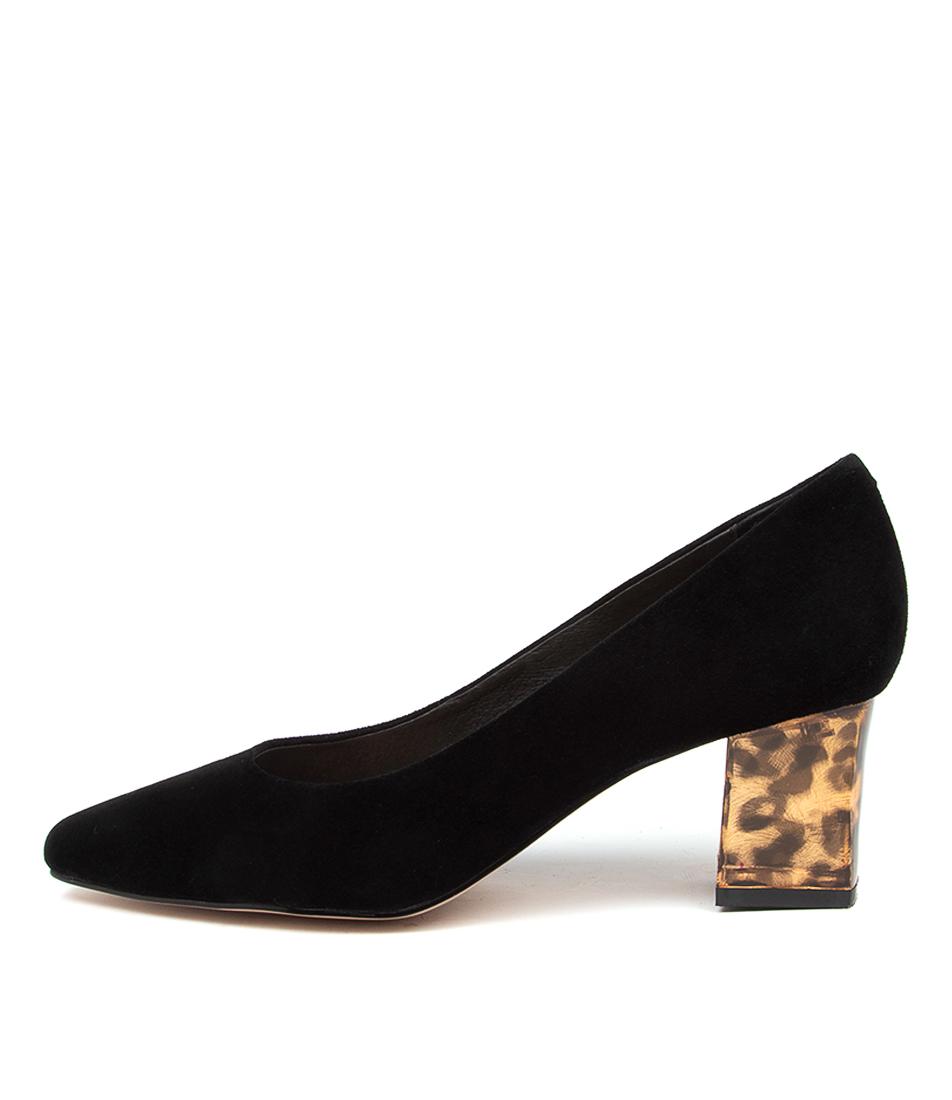 Buy Django & Juliette Hippee Black Leopard Heel High Heels online with free shipping