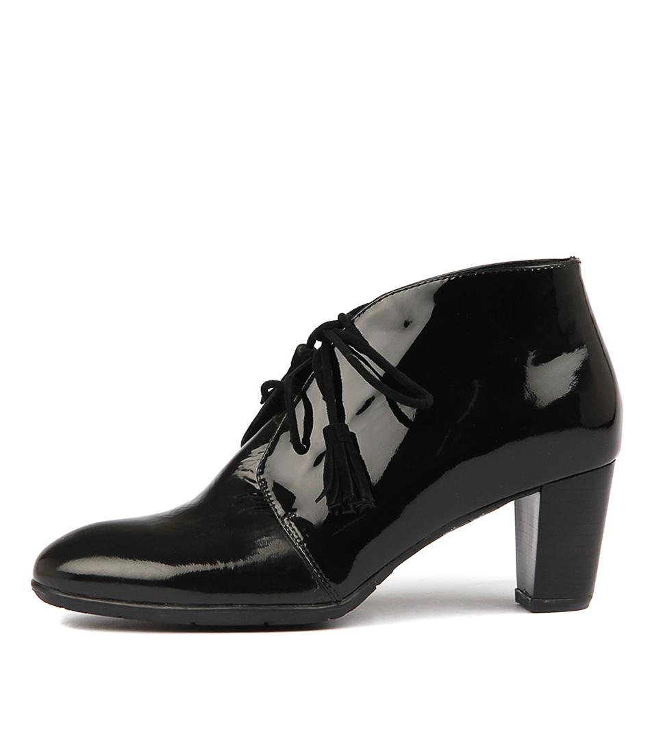 Django & Juliette Airwave Black Ankle Boots