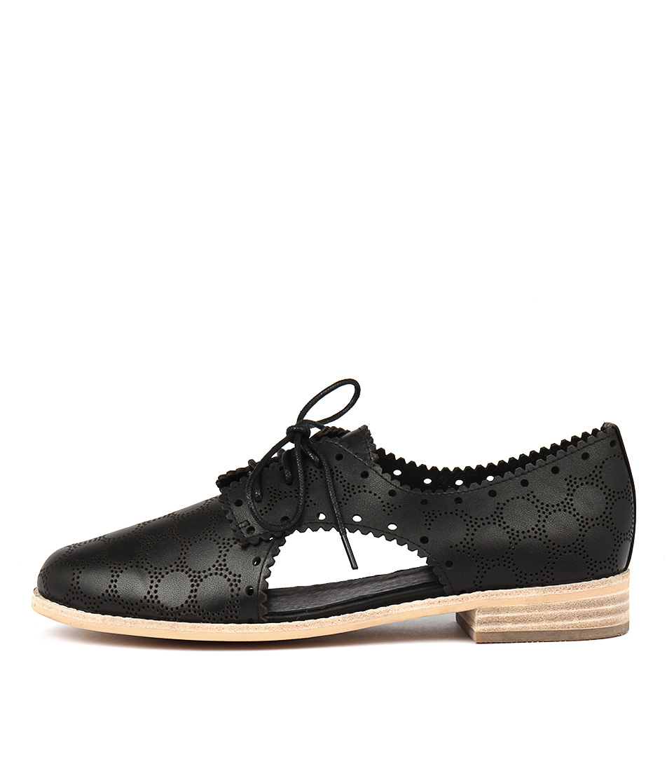 Django & Juliette Alps Black Dress Flat Shoes