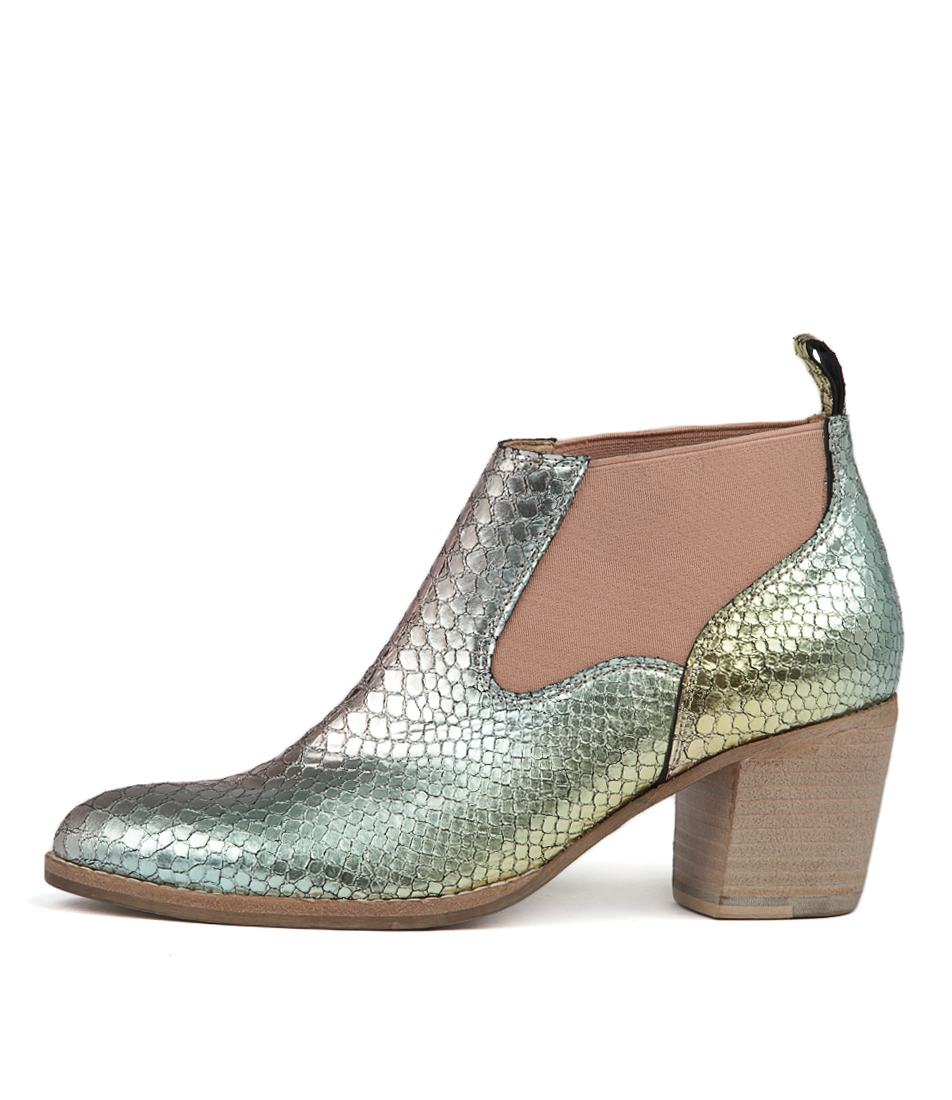 Django & Juliette Backfire Rainbow Metalli Ankle Boots