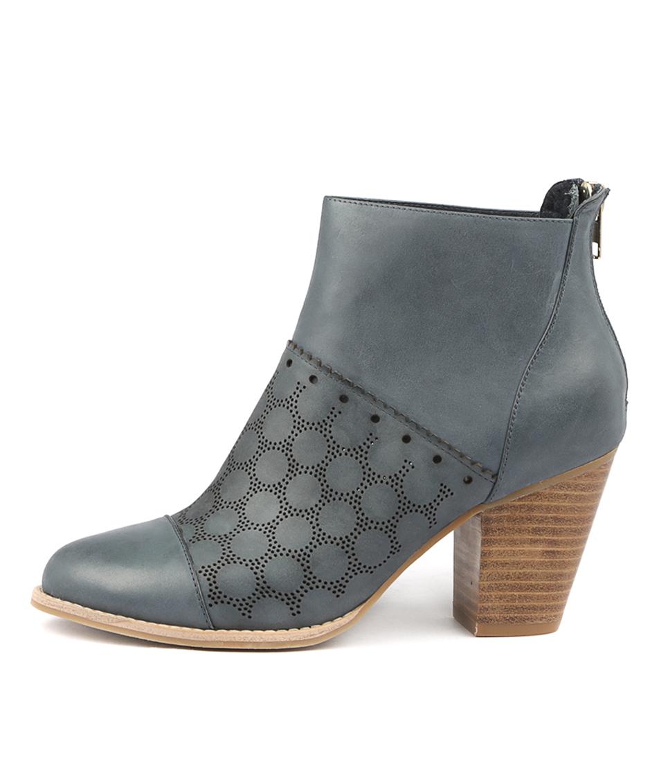 Django & Juliette Calibrate Navy Ankle Boots