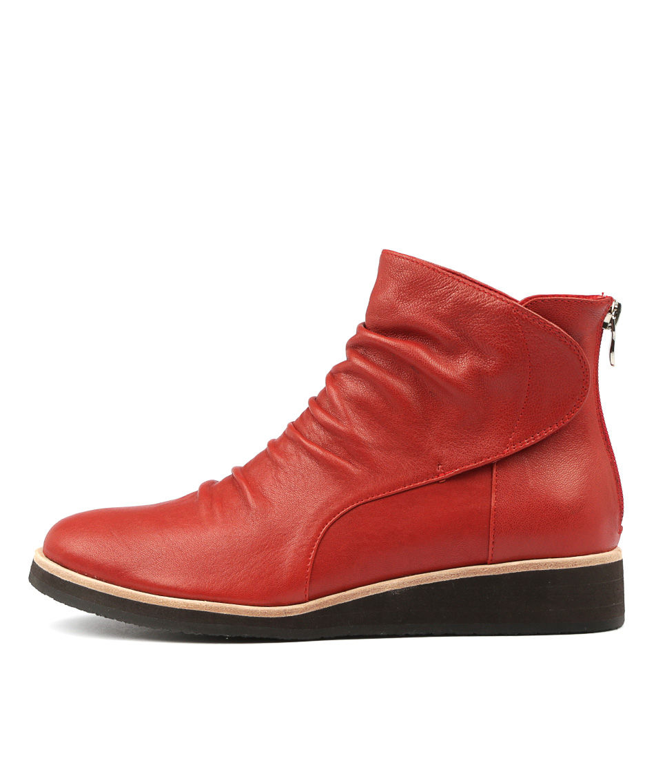 Photo of Django & Juliette Clooper Red Ankle Boots womens shoes