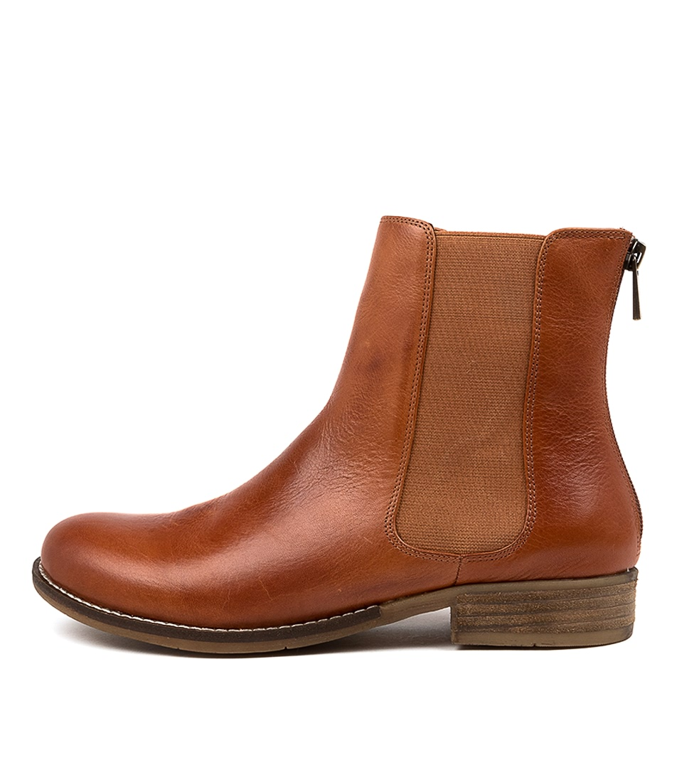 Buy Django & Juliette Collas Cognac Ankle Boots online with free shipping