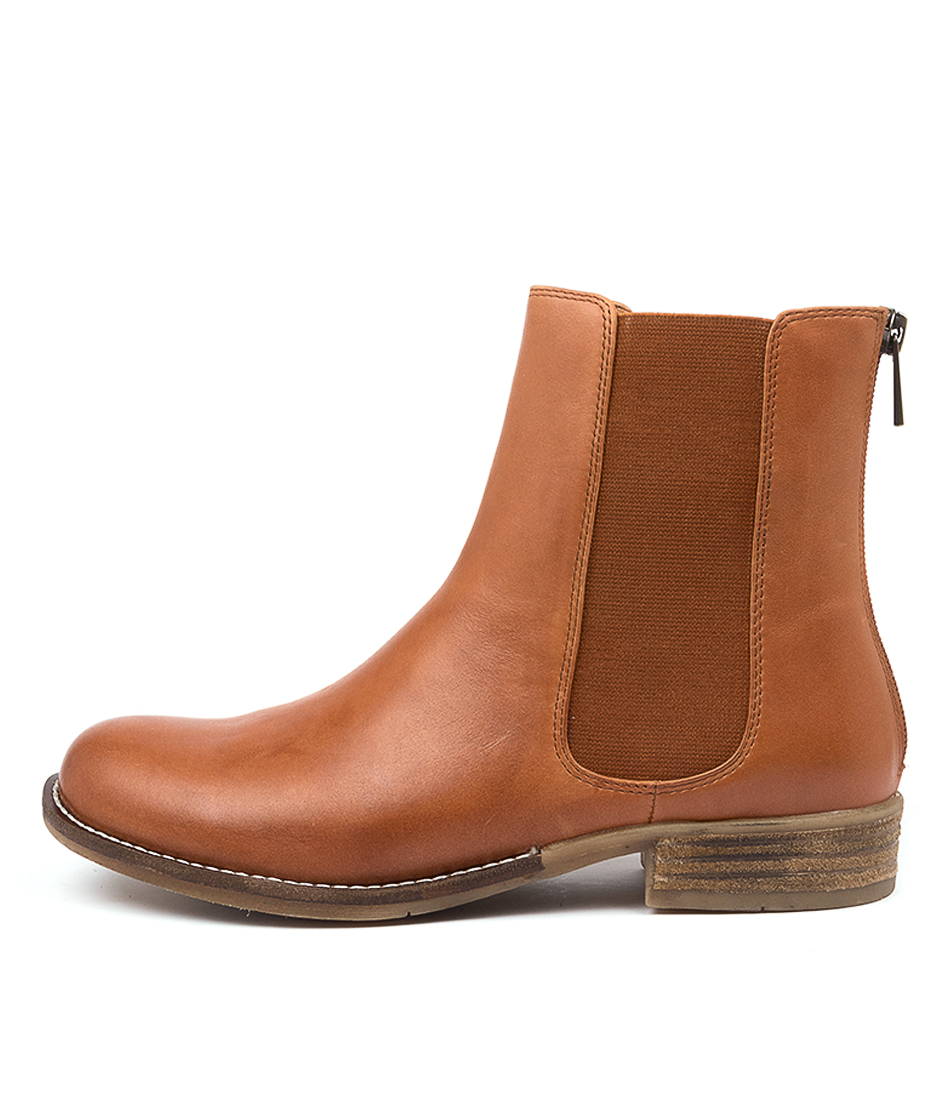 Buy Django & Juliette Collas Dk Tan Ankle Boots online with free shipping