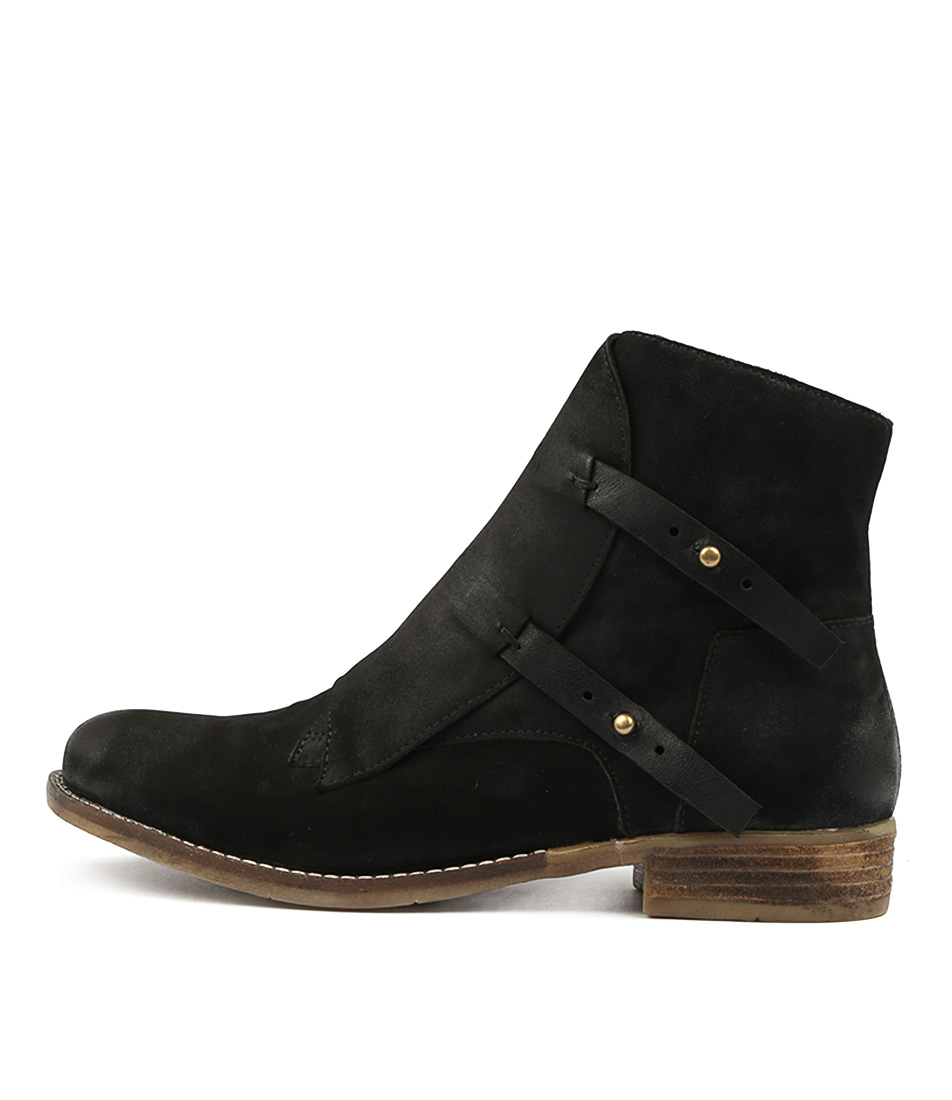 Django & Juliette Corsit Black Black Ankle Boots