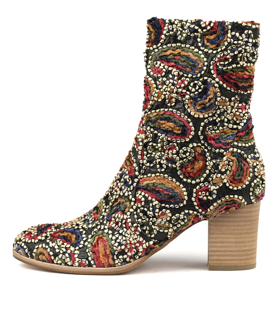 Photo of Django & Juliette Deliscka Gold Boho Ankle Boots womens shoes