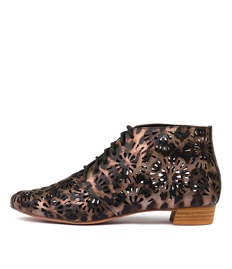 Django & Juliette Ebru Ocelot Ankle Boots