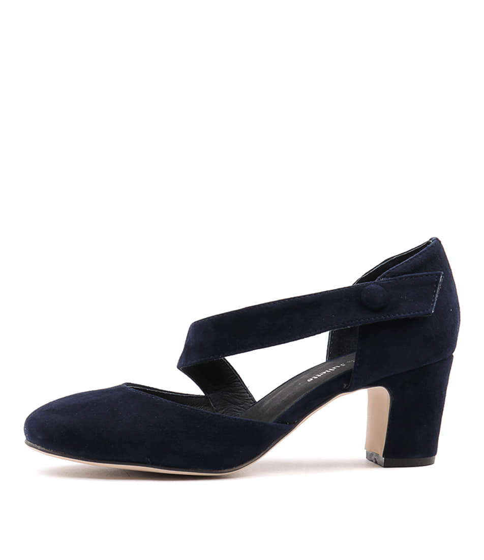 Django & Juliette Everyone Navy Navy Heeled Shoes