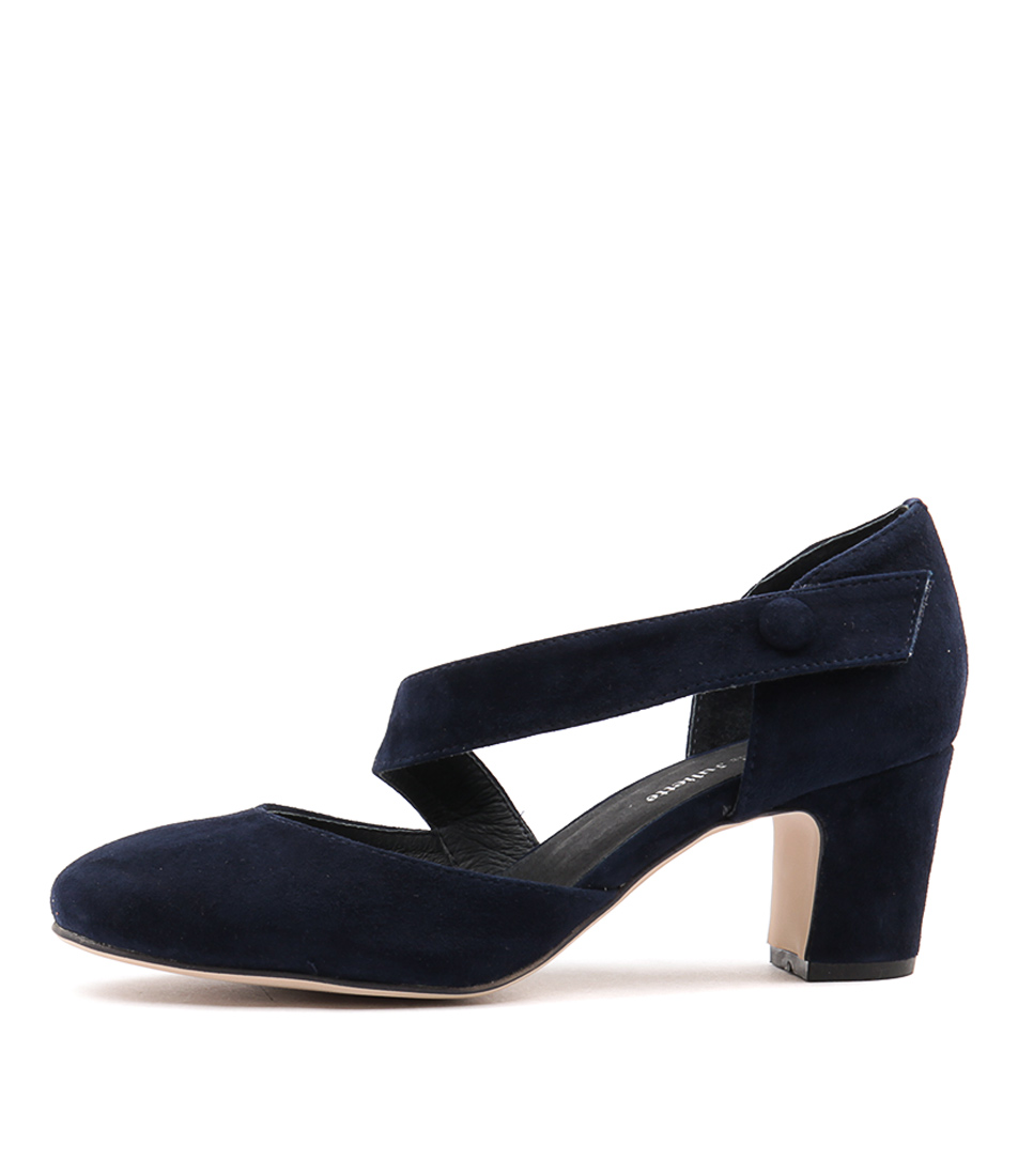 buy Django & Juliette Everyone Navy Navy Heeled Shoes shop Django & Juliette High Heels online