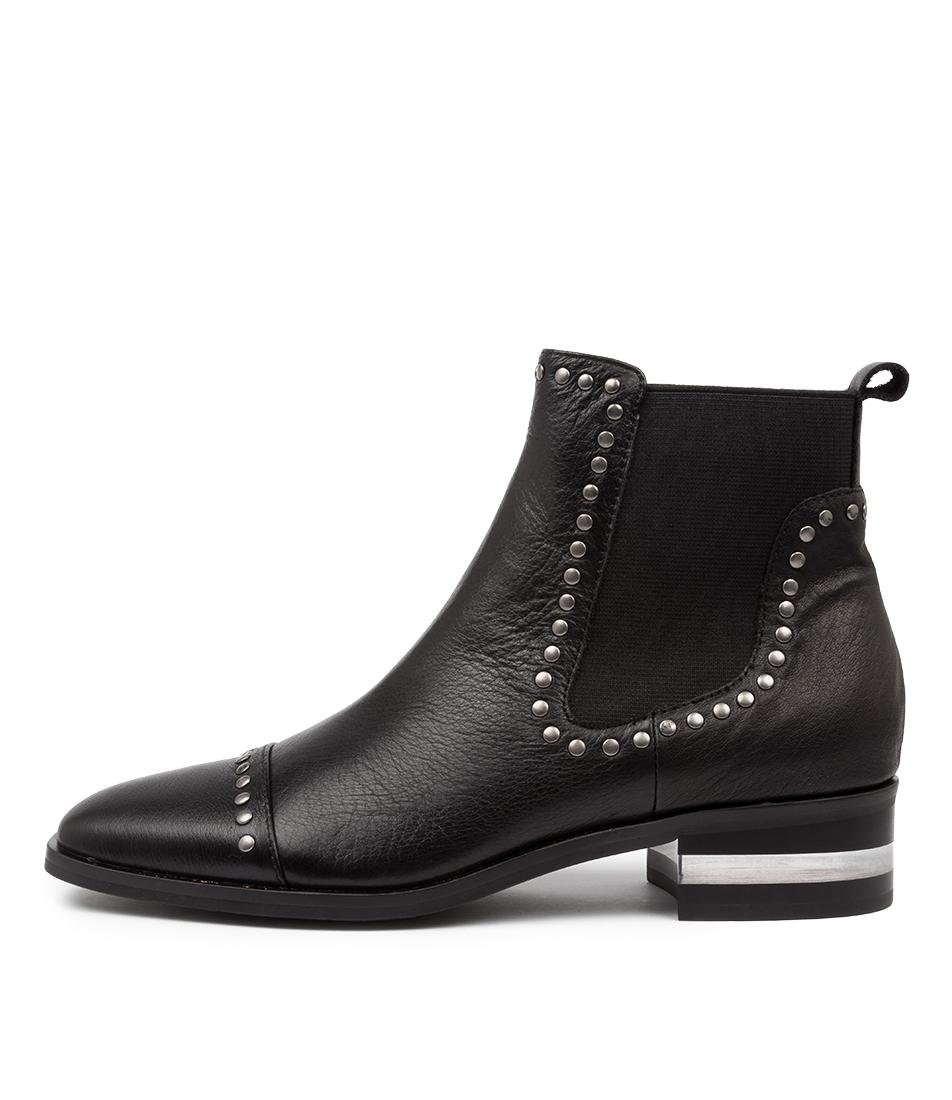 Buy Django & Juliette Ferras Black Black Heel Ankle Boots online with free shipping