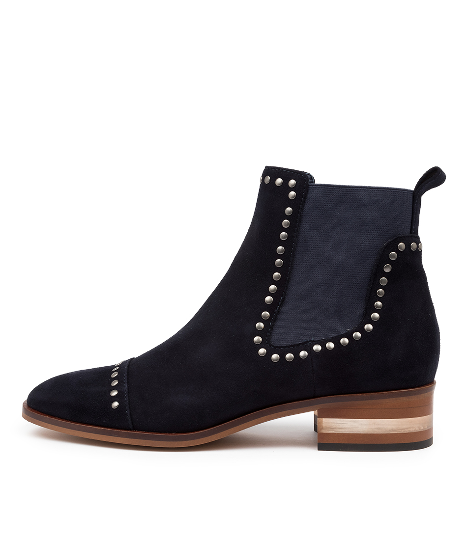 Buy Django & Juliette Ferras Navy Ankle Boots online with free shipping