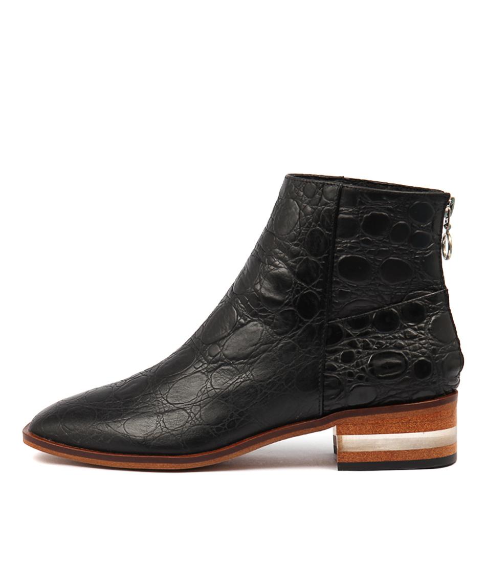 Photo of Django & Juliette Flavor Black Ankle Boots womens shoes