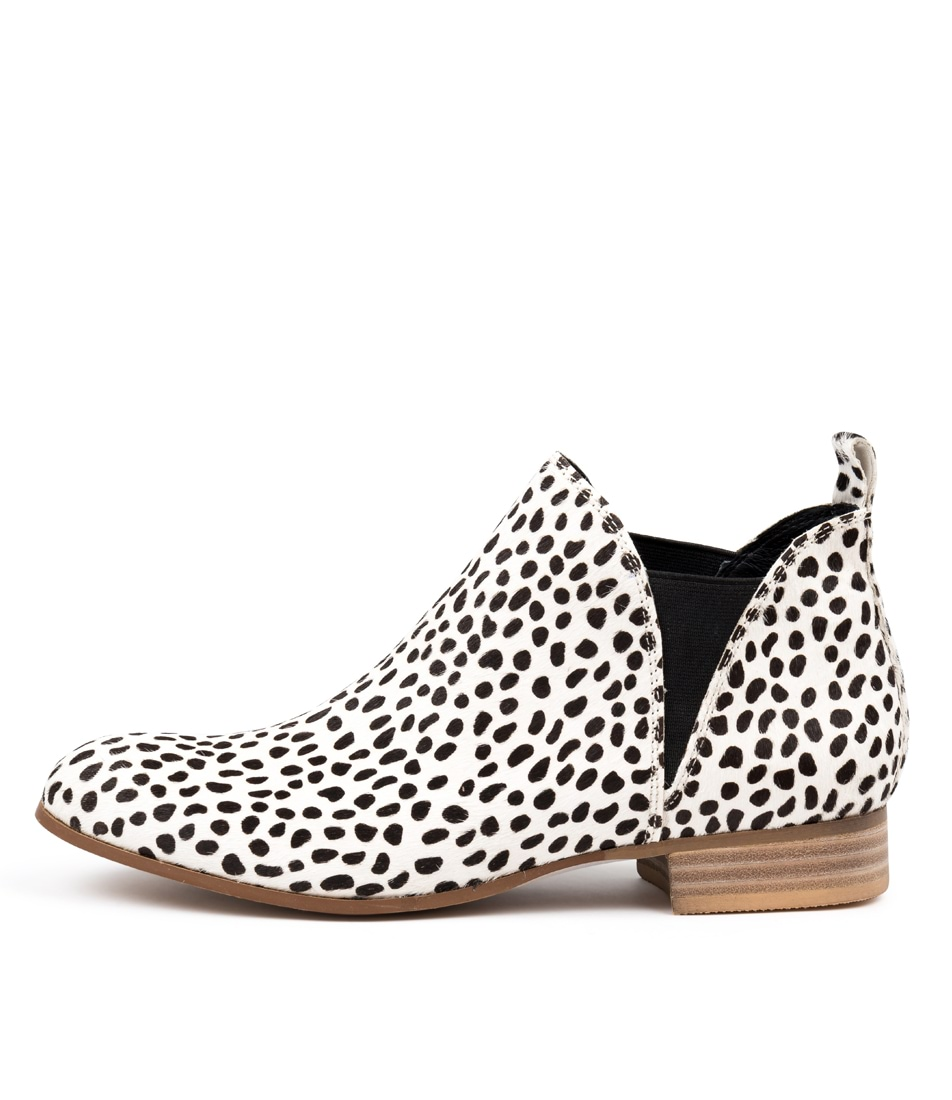 Buy Django & Juliette Foe White & Black Ankle Boots online with free shipping