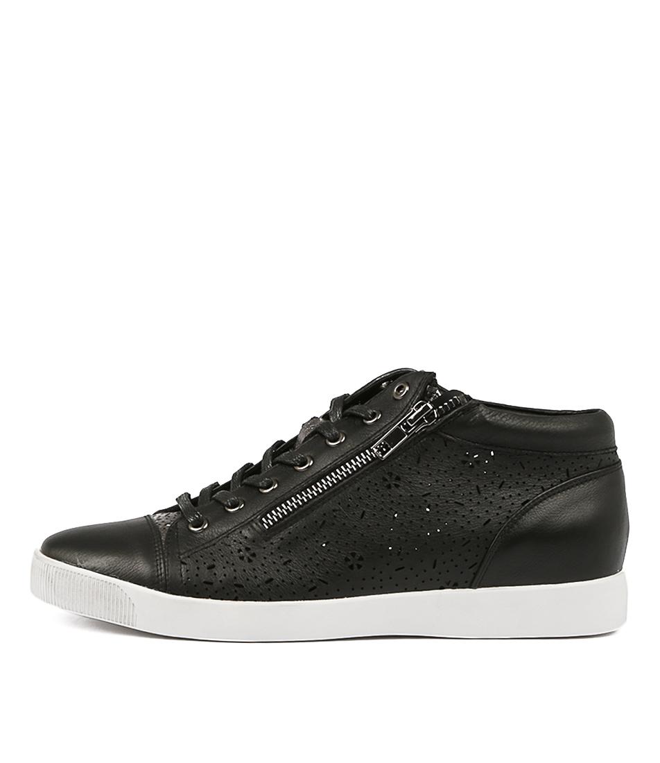 Django & Juliette Gingerale Black Pewter Sneakers