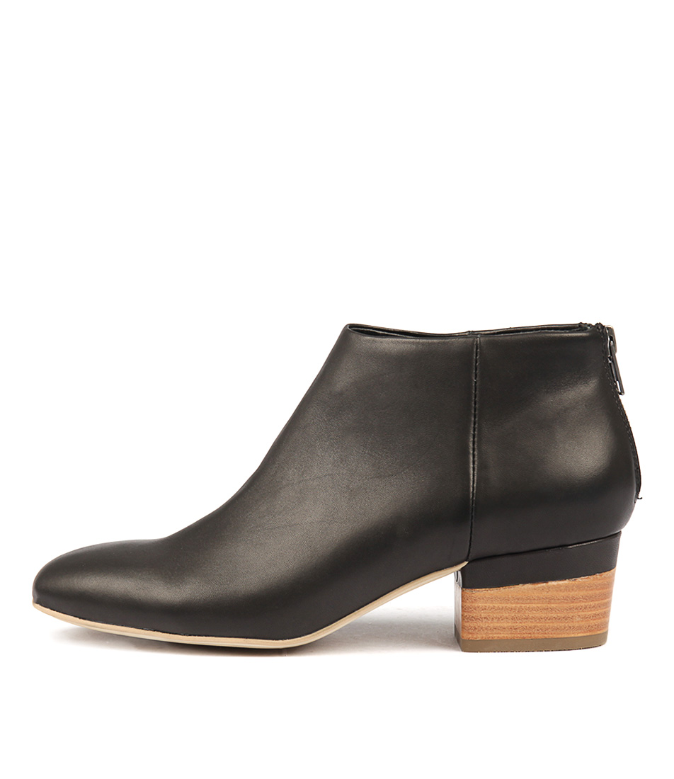 Django & Juliette Glitchery Black Ankle Boots