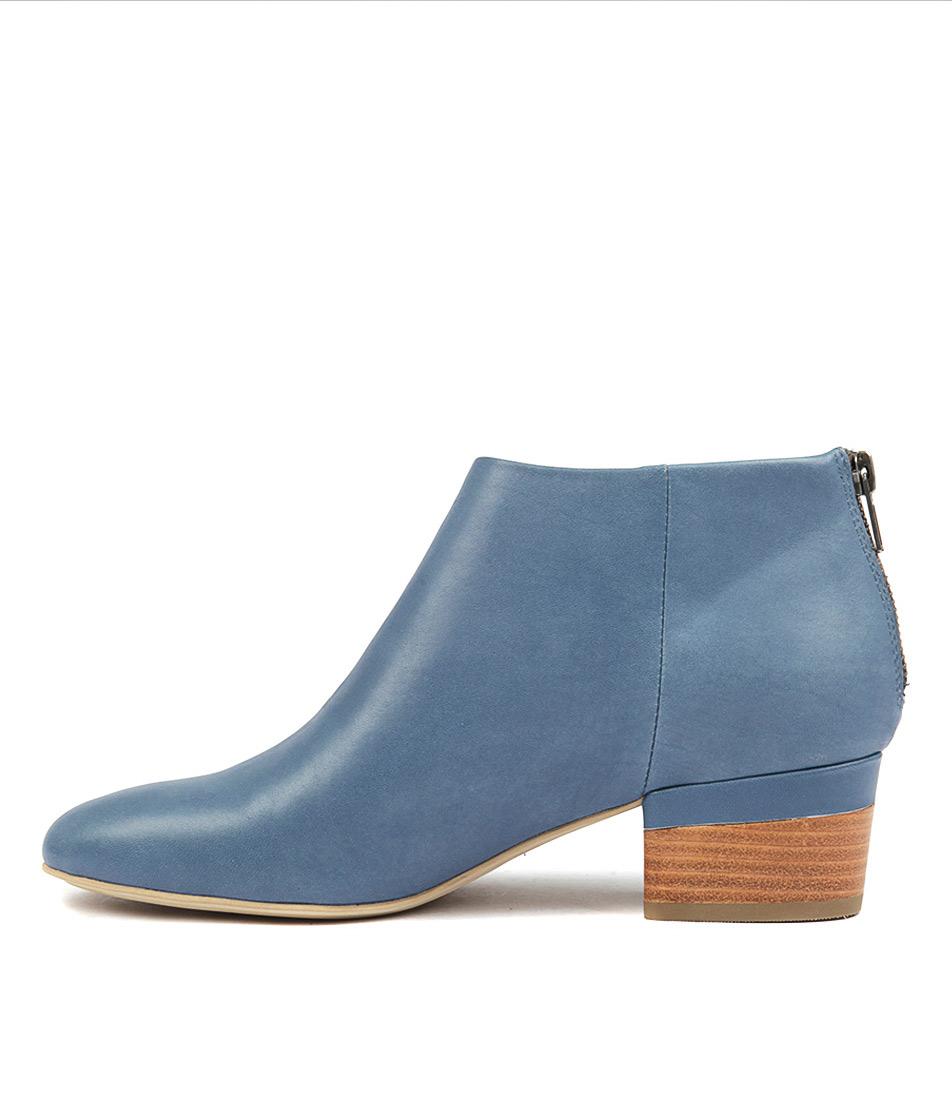 Django & Juliette Glitchery Deep Blue Ankle Boots