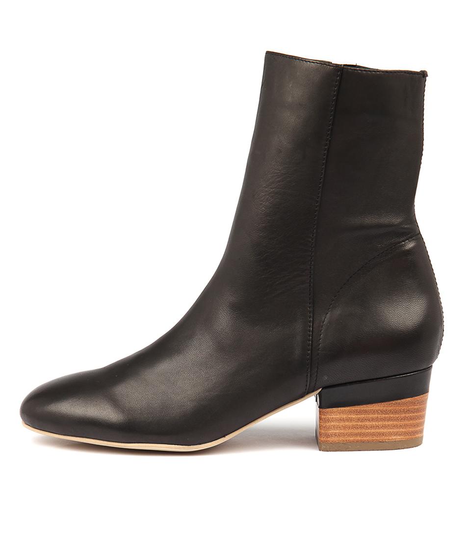Django & Juliette Gloomie Black Ankle Boots
