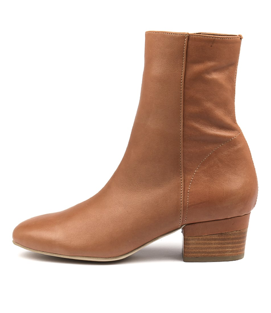Buy Django & Juliette Gloomie Tan Ankle Boots online with free shipping