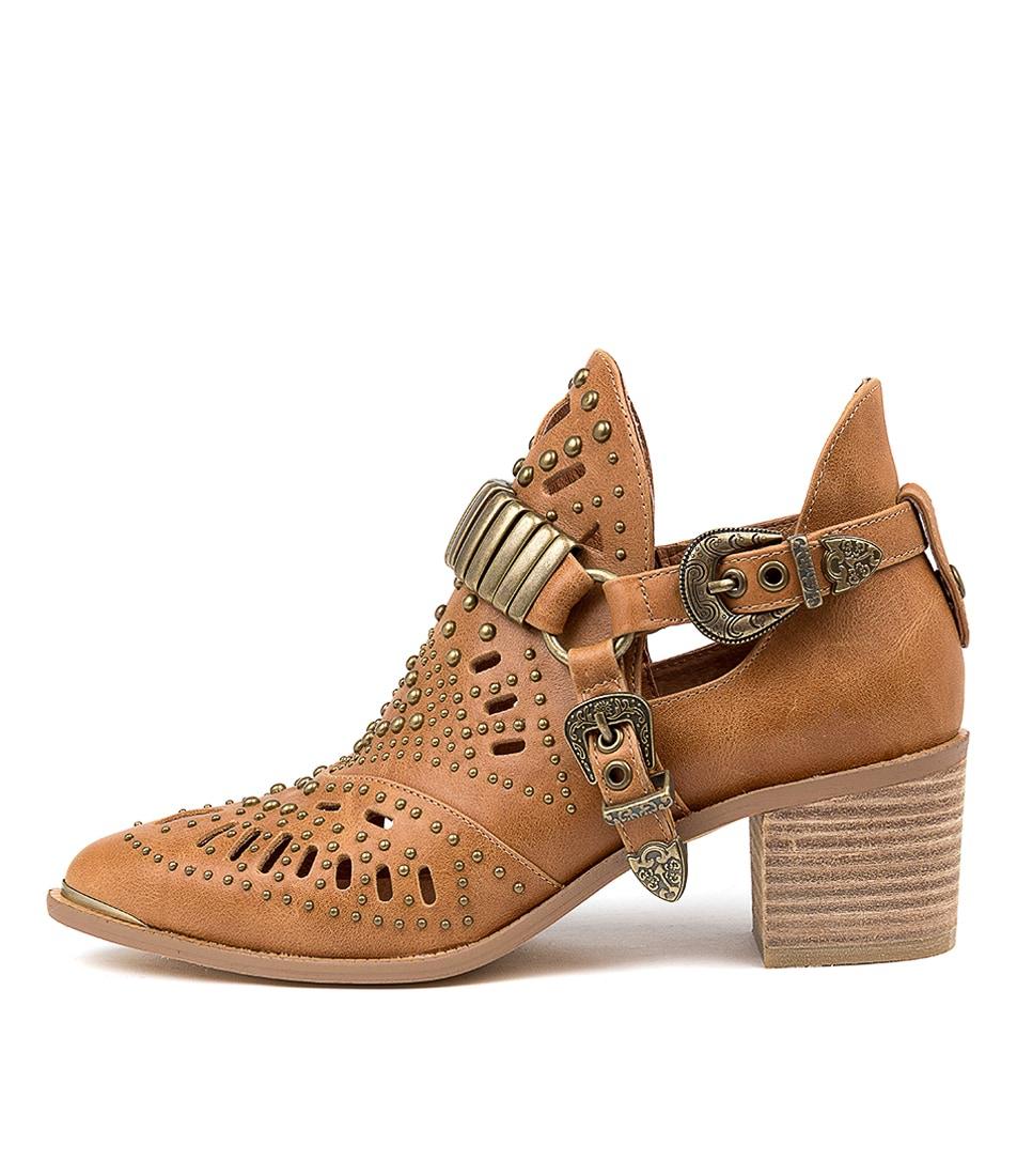 Buy Django & Juliette Hasper Tan Ankle Boots online with free shipping
