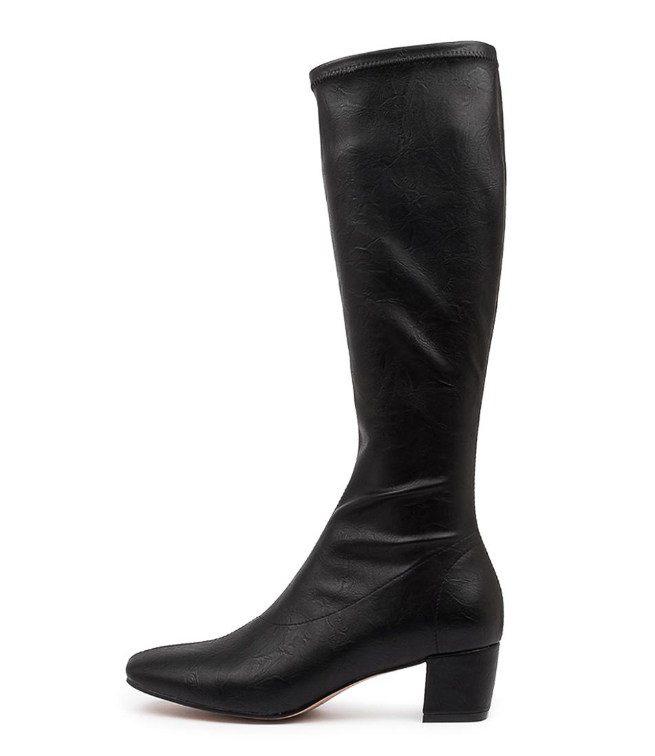 Buy Django & Juliette Hayleys Black Shrunken Long Boots online with free shipping