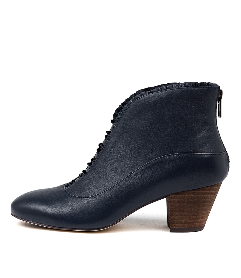 Buy Django & Juliette Hemera Navy Ankle Boots online with free shipping