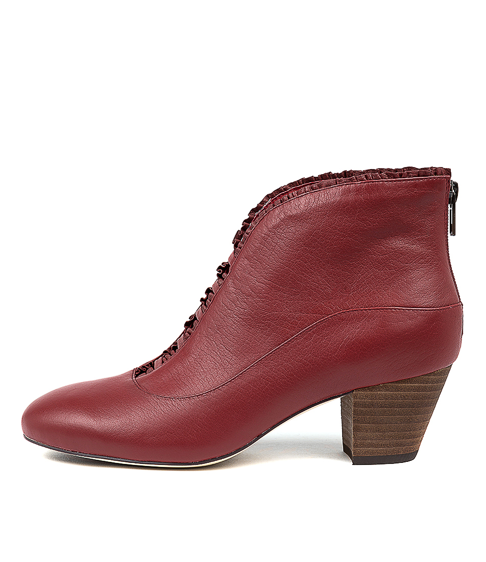 Buy Django & Juliette Hemera Red Ankle Boots online with free shipping