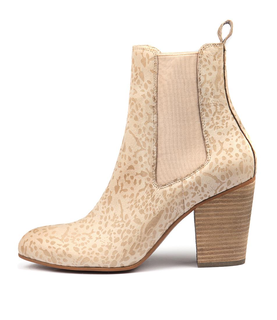 Django & Juliette Highestel Nude Ankle Boots