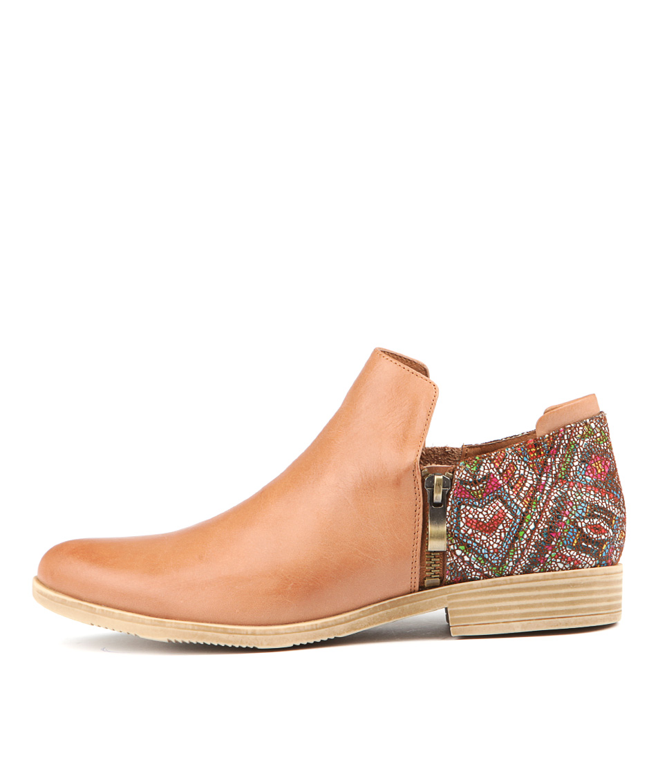 Django & Juliette Kavalier Tan Tan Aztec Ankle Boots