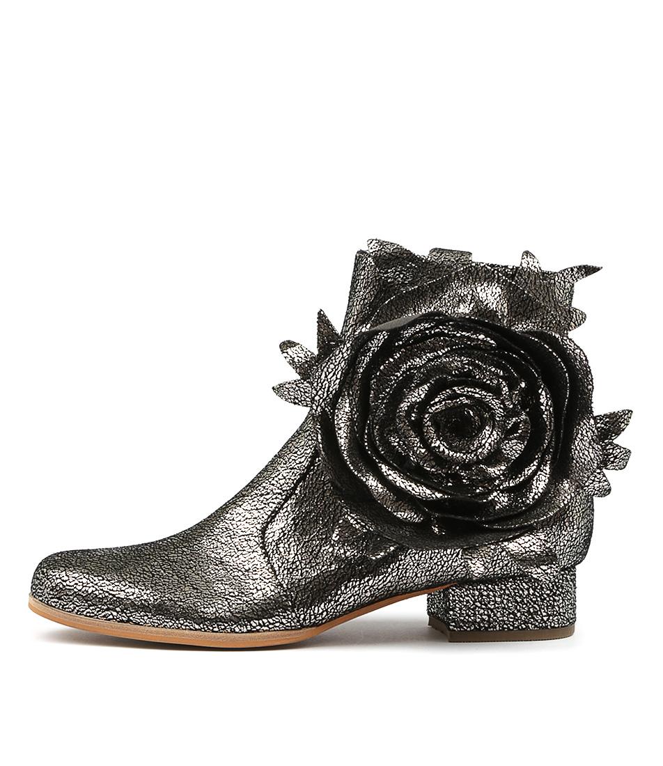 buy Django & Juliette Liveonce Pewter Ankle Boots shop Django & Juliette Boots, Ankle Boots online