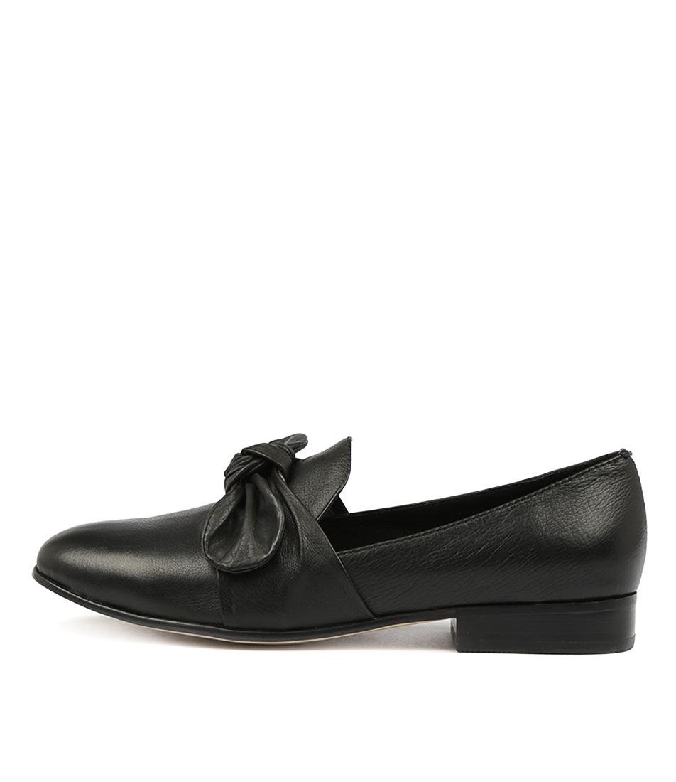 Django & Juliette Loopi Black Flat Shoes