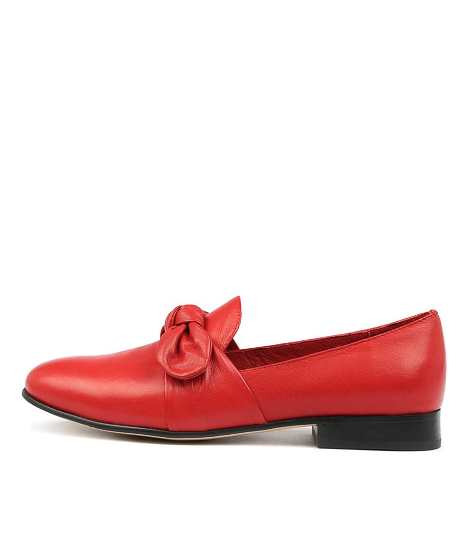 Django & Juliette Loopi Red Flat Shoes