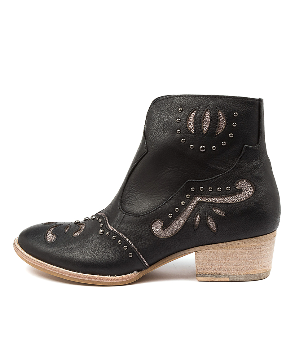 Buy Django & Juliette Lucilles Black Ankle Boots online with free shipping