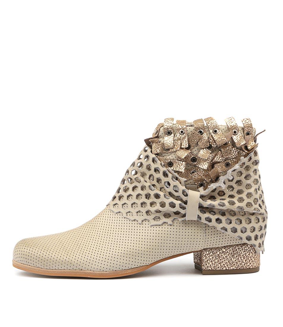 Django & Juliette Lush Stone Peach Ankle Boots