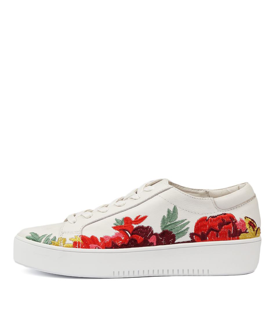 Django & Juliette Lusty White Bright Em Sneakers